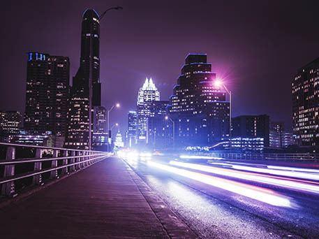 Beautiful Austin at night