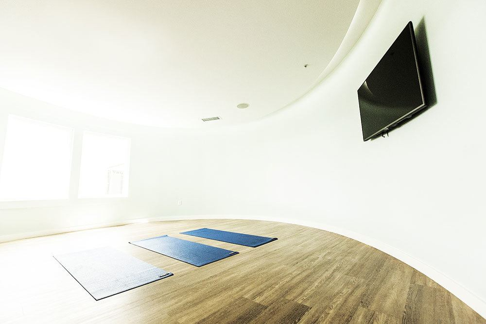 enjoy access to a private community yoga studio
