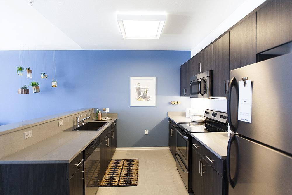 our apartments feature elegant and modern kitchens