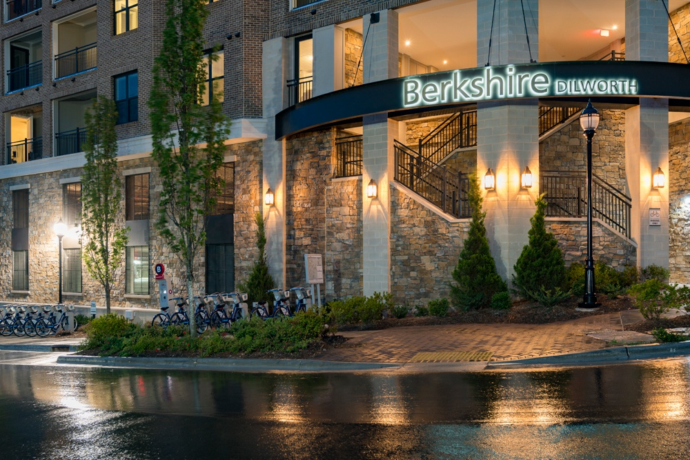 Entrance to Berkshire Dilworth in Charlotte NC
