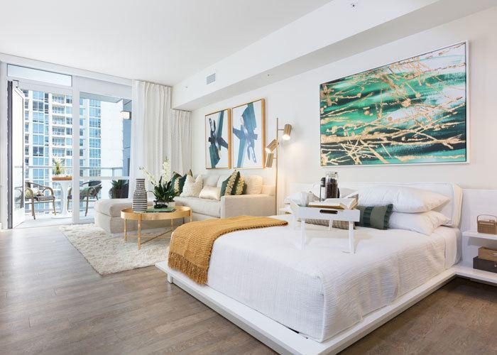 Apartment features in San Diego, California
