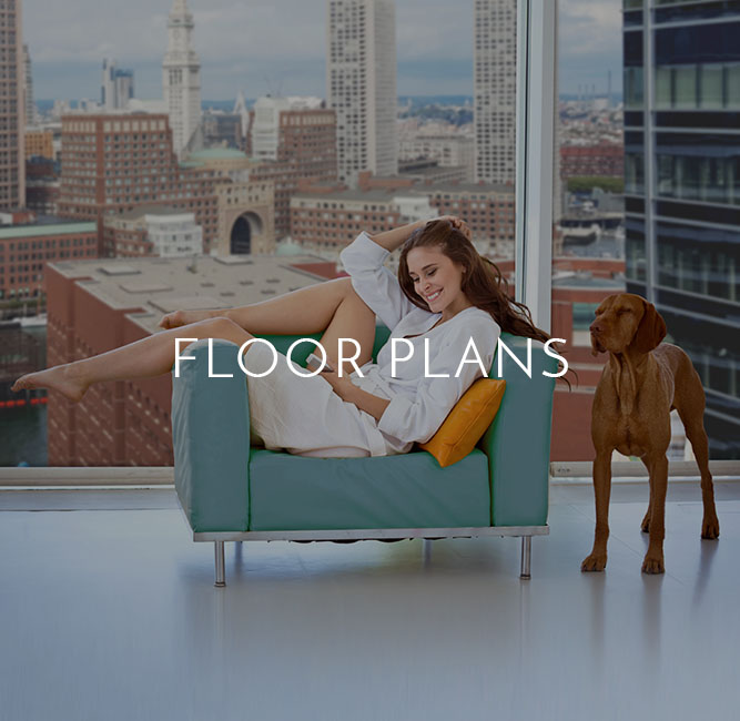 Floor plans offered by VIA Seaport Residences