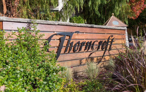 Sign at Thorncroft