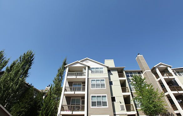 An exterior view of our apartments in Hillsboro