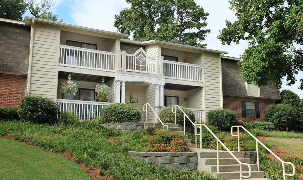 Exterior shot of our apartment buildings in Greer, SC
