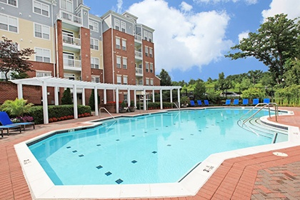 The fitness center at our Bethesda MD apartments