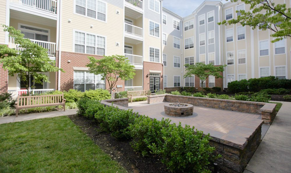A view of the exterior of our apartments in Bethesda