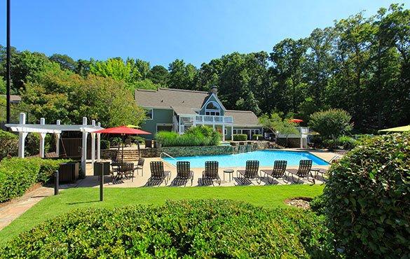 Pool area at our Smyran GA apartments