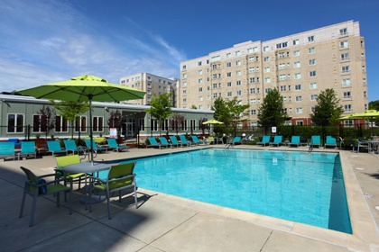 Pool at our apartments in QuincyMA