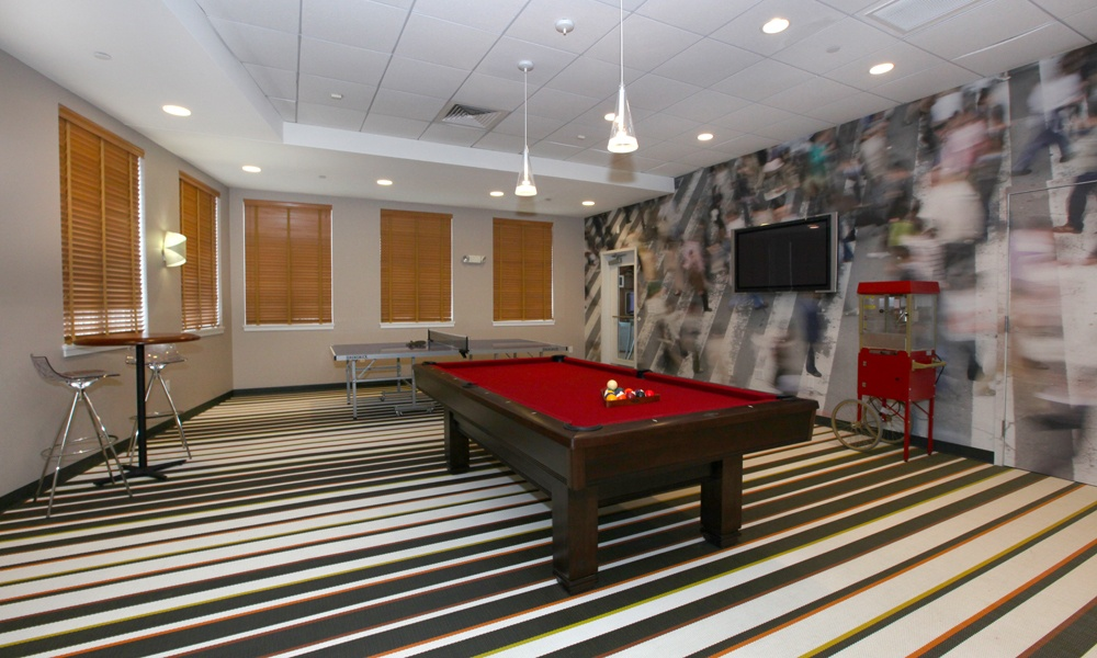 Game Room at our apartments in Quincy