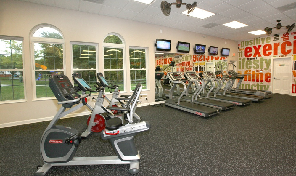 Fitness center in our apartments in Laurel, Maryland