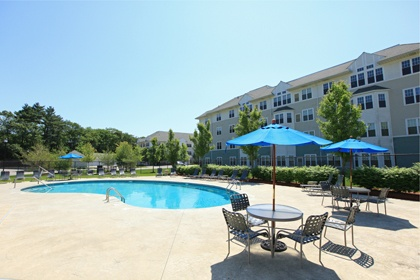 The pool at our Franklin MA apartments