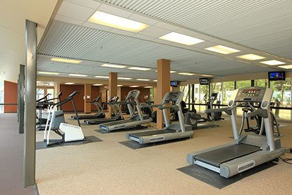 the fitness center at our apartments in Houston