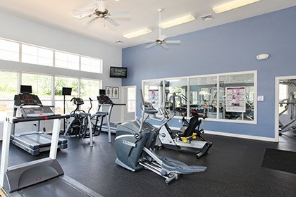 The fitness center at our Littleton CO apartments