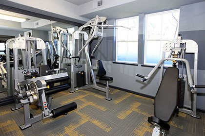 Fitness center inside our Walnut Creek apartments