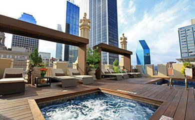 The Kirby Residences on Main offering a luxurious swimming pool