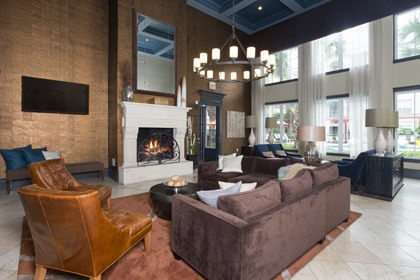 Fireplaces inside our Houston apartments