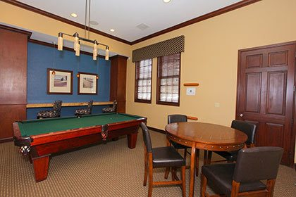 Billiards at our Thornton apartments