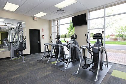 Fitness center inside our Phoenix apartment homes