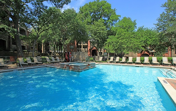 Swimming pool at our Plano apartments