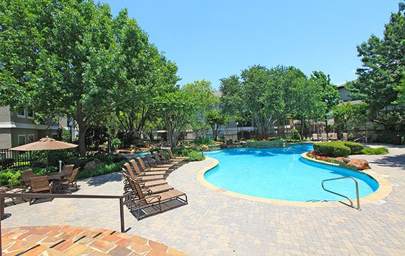 Swimming pool at our Dallas apartments