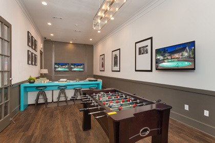 The game room inside our apartments in The Woodlands TX