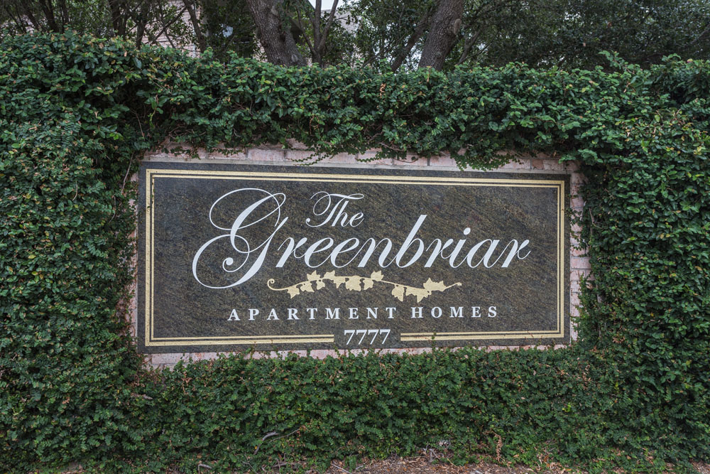 Sign at Greenbriar Apartments