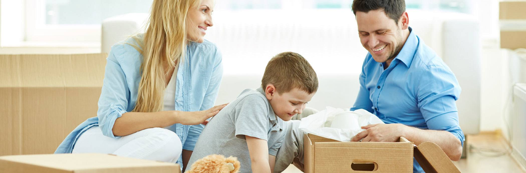 Family moving together happy with Urban Self Storage