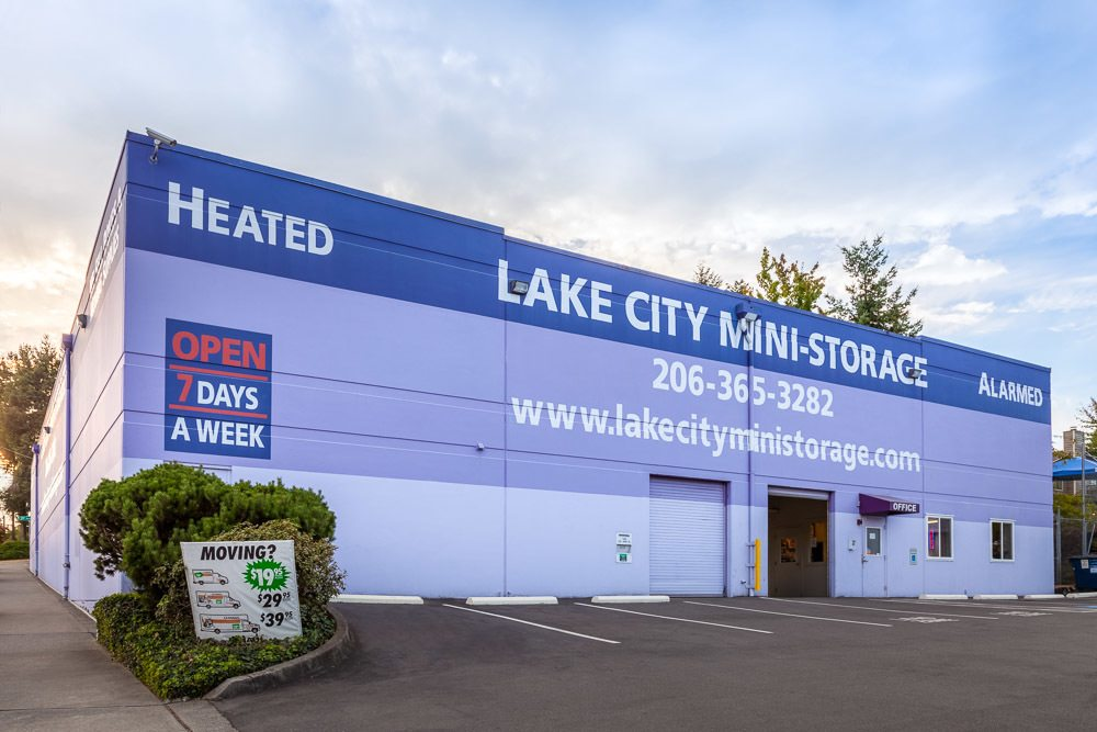 Exterior view of our mini storage facility in Seattle, Washington.