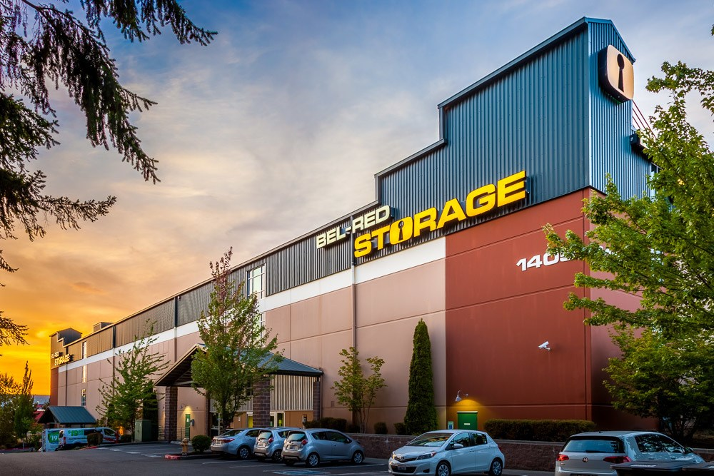 Exterior view of our self storage facility in Bellevue, Washington.