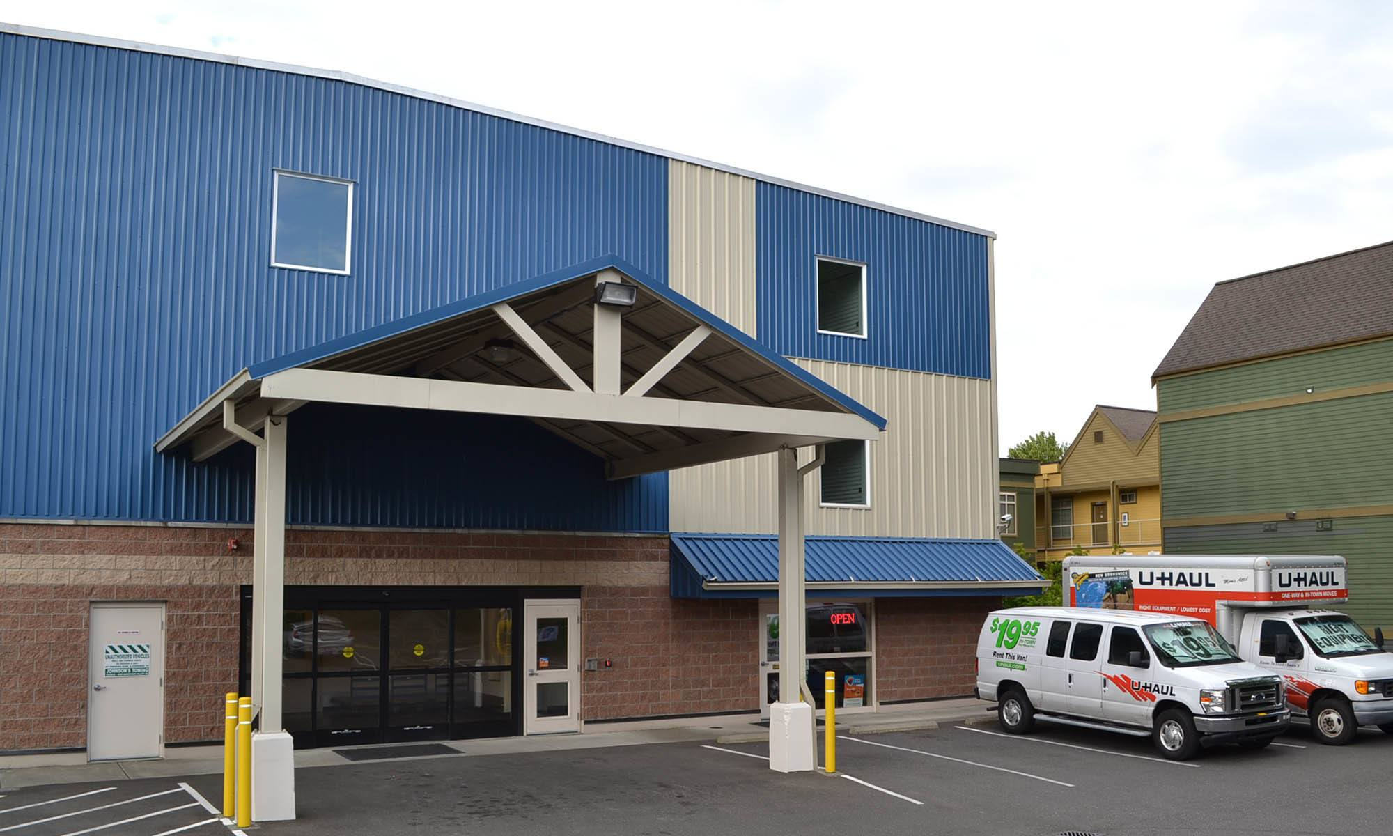 Exterior of self storage facility in Bellingham, Washington