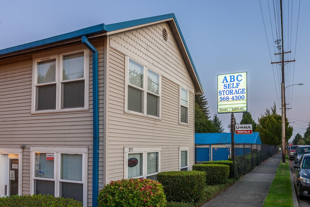 Exterior of our self storage office in Snohomish, WA.