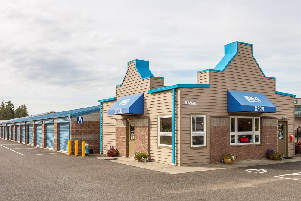 Exterior of our self storage facility in Lyden, WA.