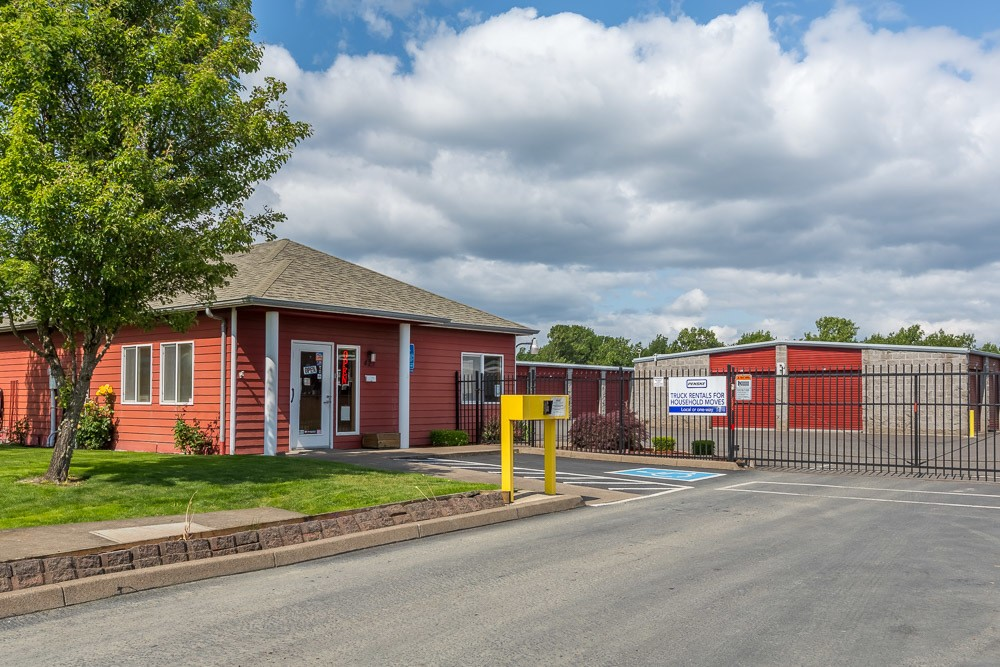 Side view of self storage office in Philomath, OR