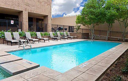 Sparkling pool at our apartments near Downtown San Antonio