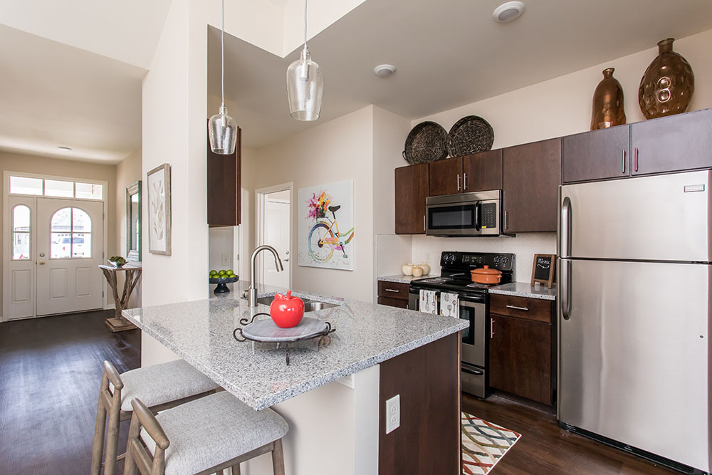 Beautiful kitchen at Orchard View Senior Apartments in Rochester, NY