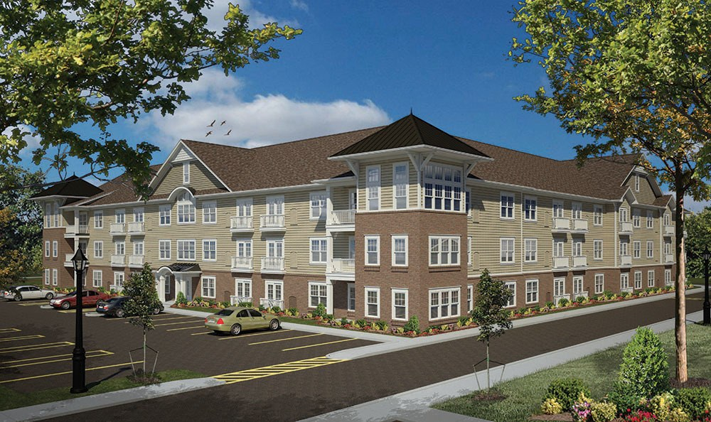 Exterior of the apartments at North Ponds Apartments