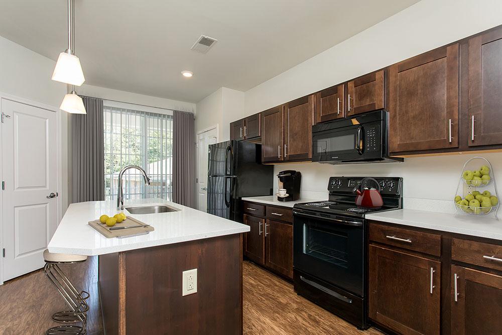 Example kitchen at Green Lake Apartments