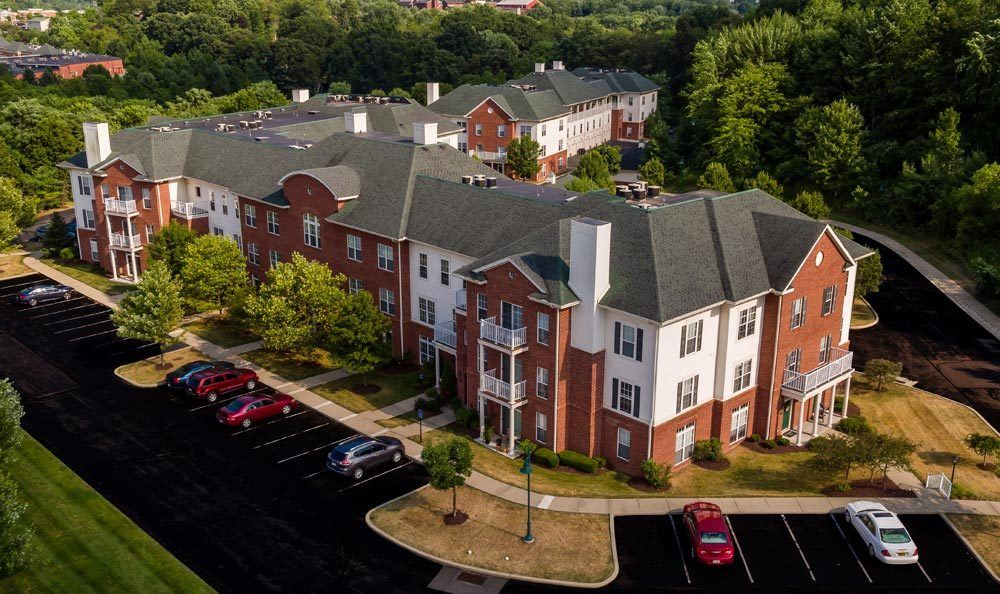 Aerial view of Christopher Wren Apartments