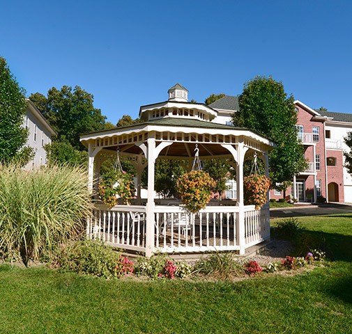 Gazeebo on the grounds of Wexford Pennsylvania apartments