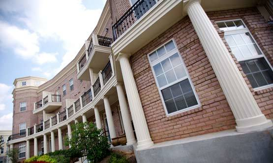 Sign of Worthington Luxury Apartments in Charlotte  NC. University City Area Charlotte  NC Apartments for Rent
