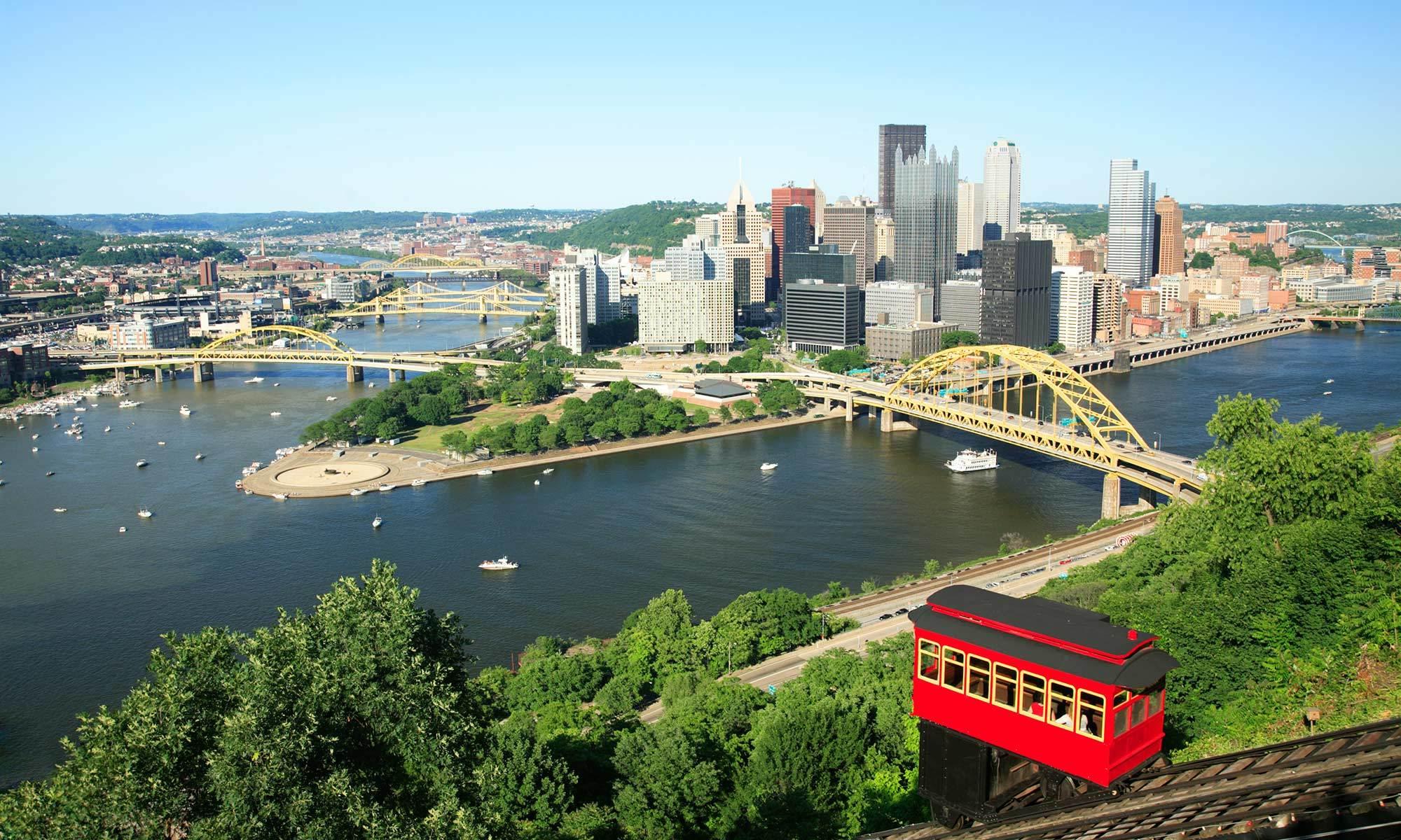 A beautiful view of Pittsburgh, PA