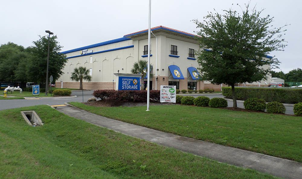 Exterior Of Storage Unit Office at Compass Self Storage in Fernandina Beach, FL