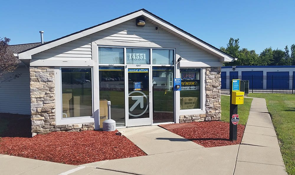 Exterior Of Leasing Office at Compass Self Storage in Flat Rock, MI