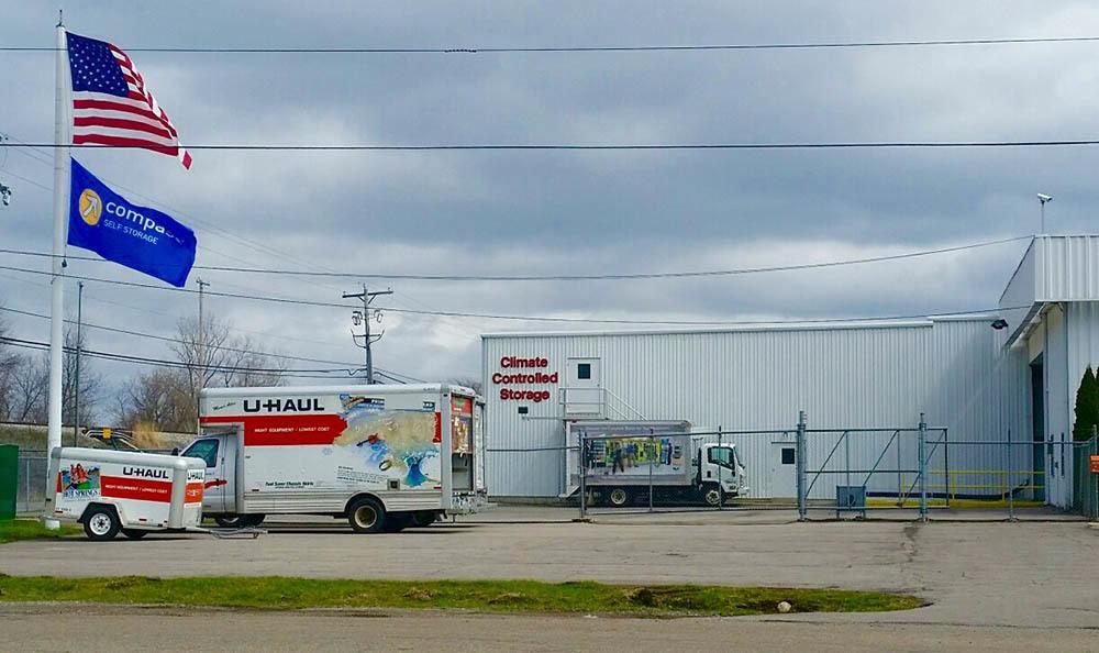 Storage Units Exterior at Compass Self Storage in Jackson, MI
