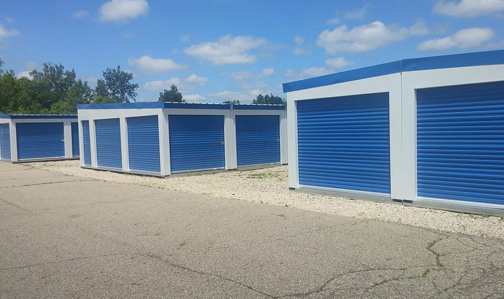 Exterior Storage Units at Compass Self Storage in East Lansing, MI