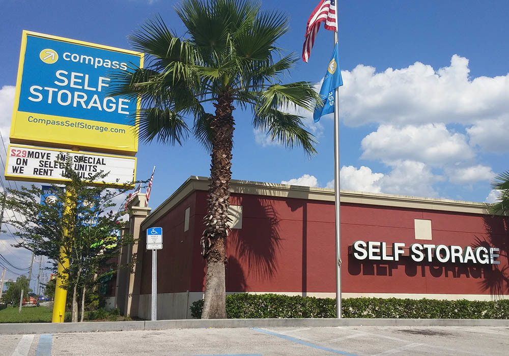 Exterior Of Storage Units at Compass Self Storage in Orlando, FL