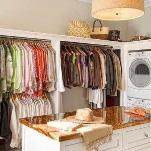 Closet with built in washer