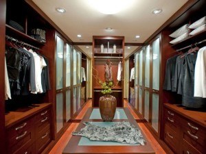 A hall of closet space