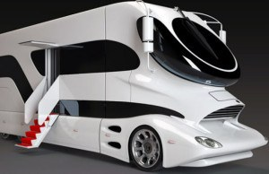 Futuristic spaceship looking RV